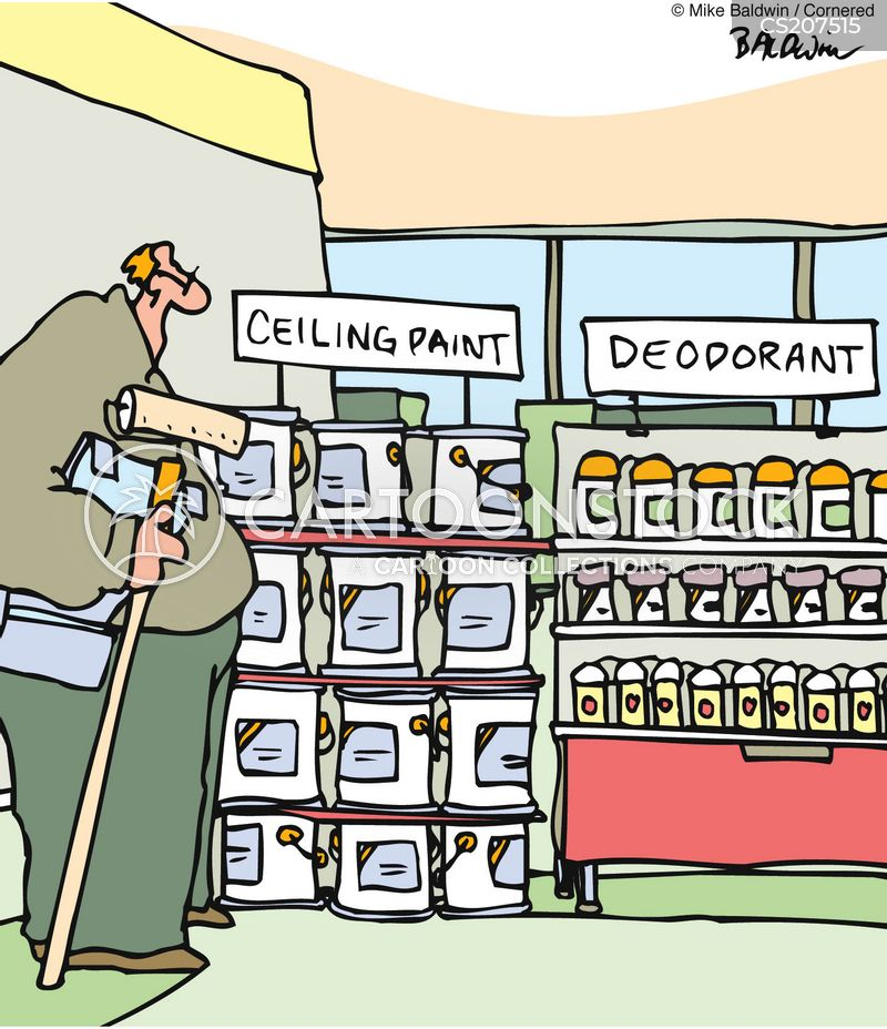 deodorant cartoon