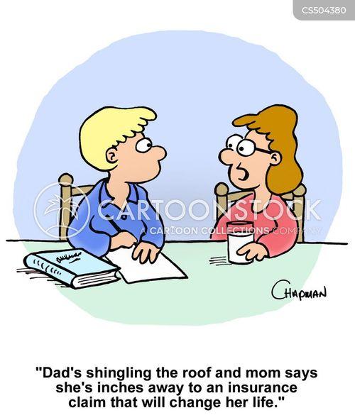 roof shingles cartoon