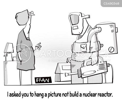 nuclear reactors cartoon