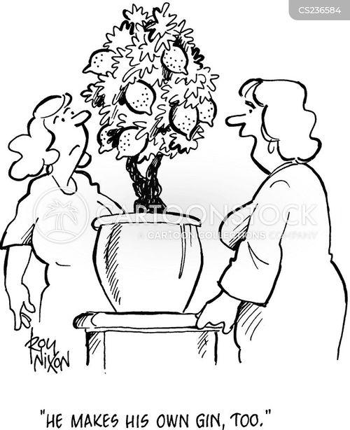 alcholic cartoon
