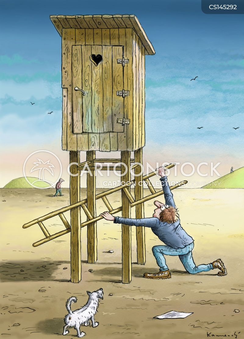 outdoor toilets cartoon