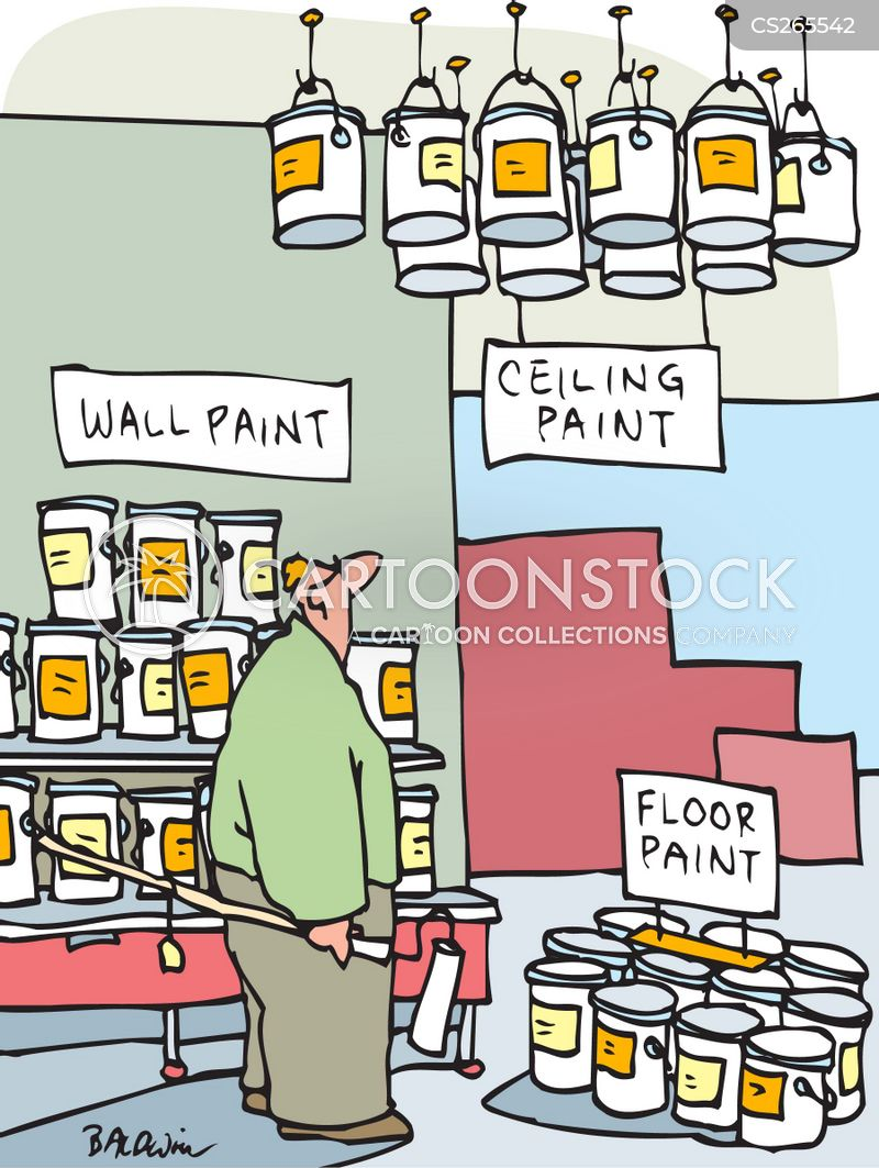 wall paint cartoon