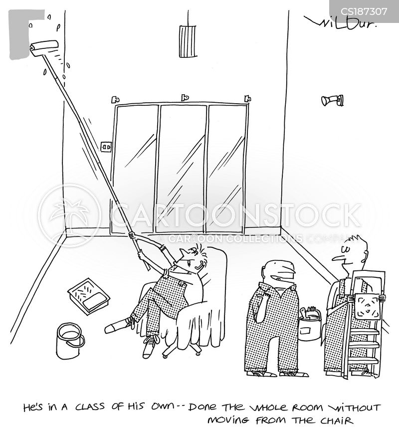 Painter And Decorator Cartoon 2 Of 25