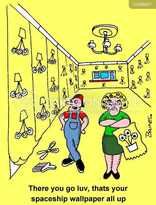 painter and decorator cartoon