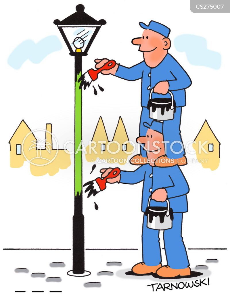 lamppost cartoon