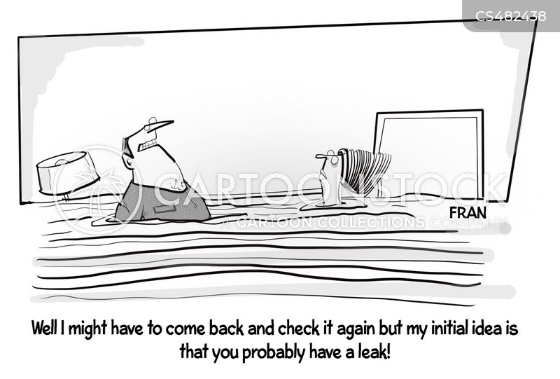leaky pipe cartoon