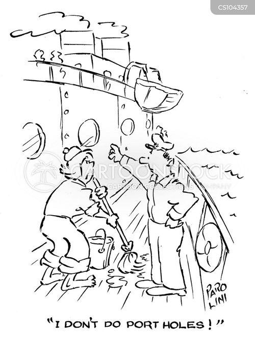 deck hands cartoon