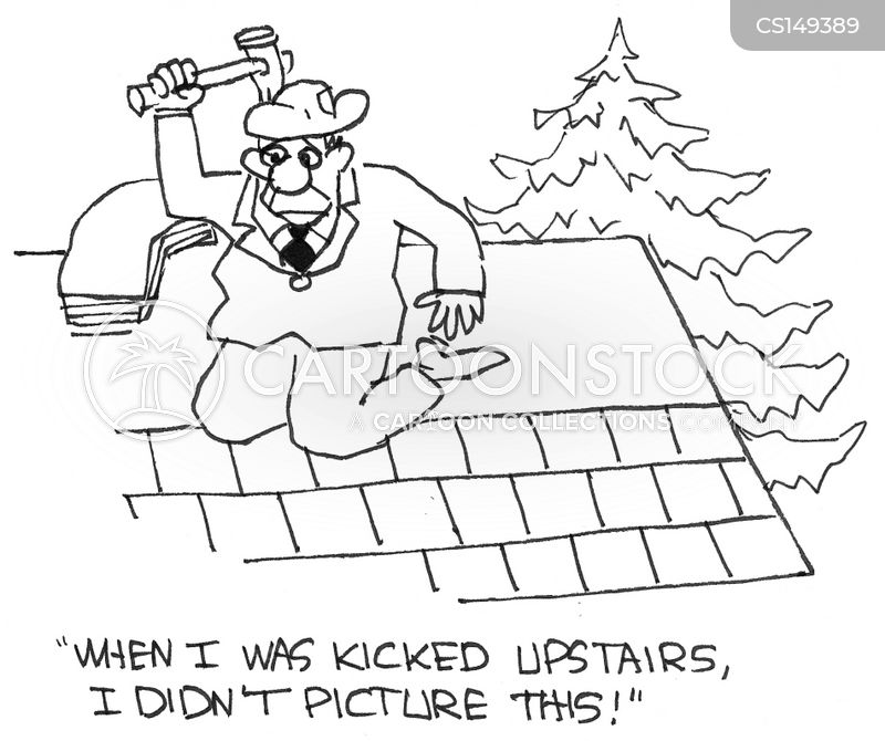 Roof Repair Cartoons And Comics Funny Pictures From