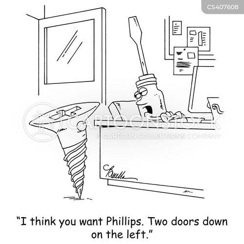 screws cartoon