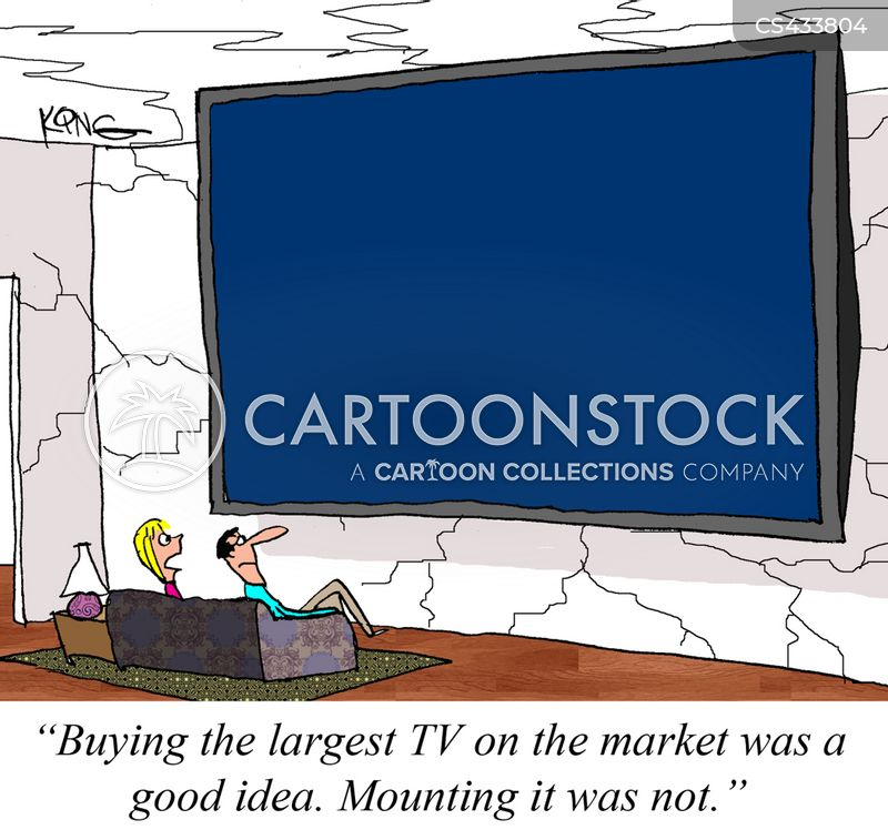 television mounts cartoon