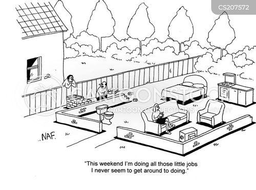 weekend jobs cartoon