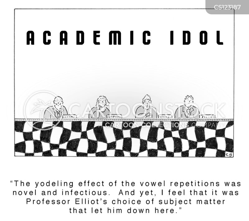 college professor cartoon