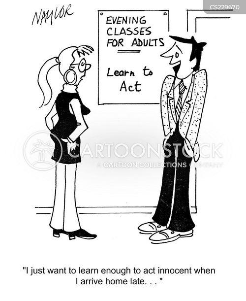 acting classes cartoon