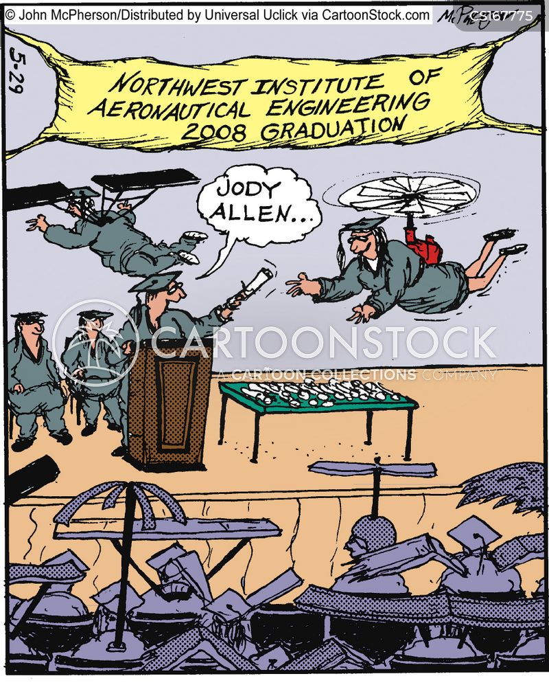 aeronautical cartoon