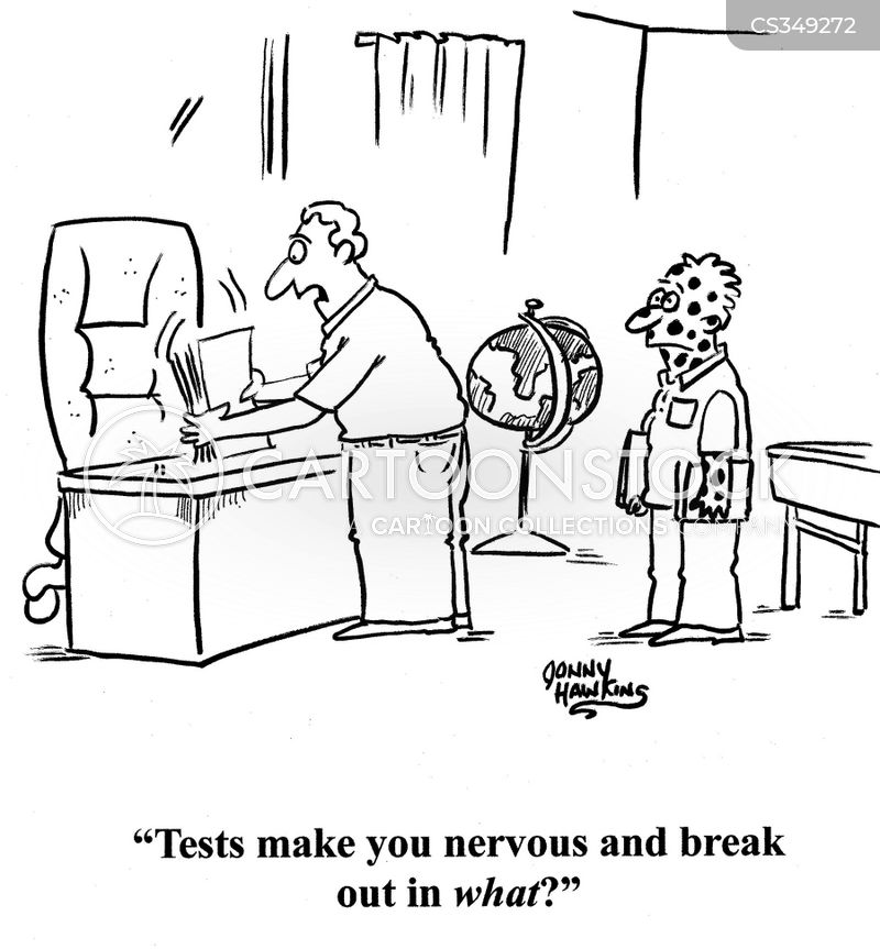 taking tests cartoon