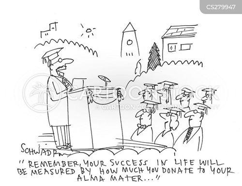 alma mater cartoon