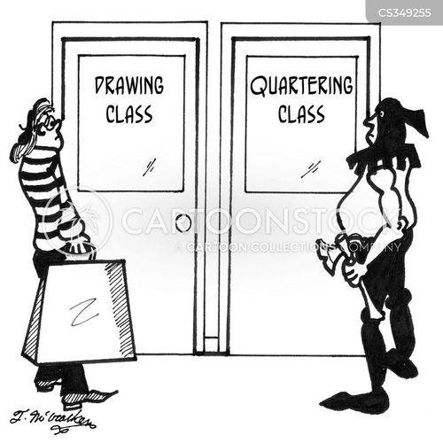 drawing and quartering cartoon