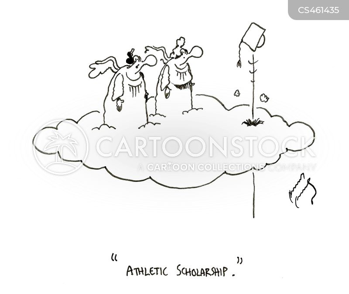 athletic scholarship cartoon