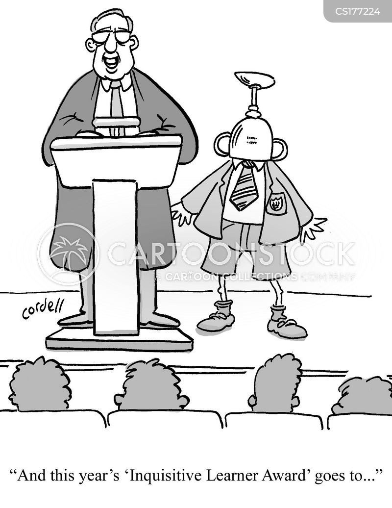 prize giving cartoon