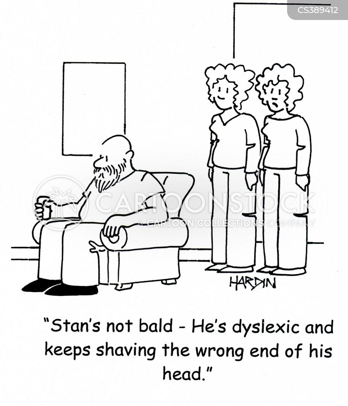 shaved heads cartoon