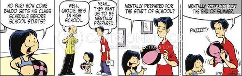 starting school cartoon