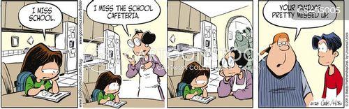 school cafeterias cartoon