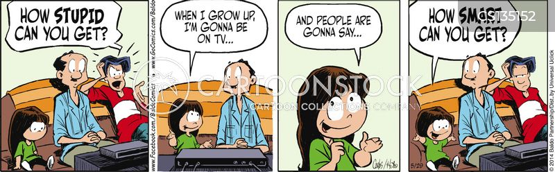 idiot box cartoon