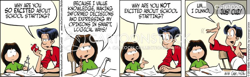 school starting cartoon