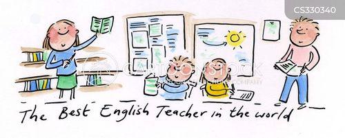 enblish teacher cartoon