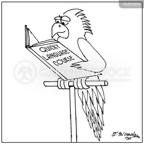 language education cartoon