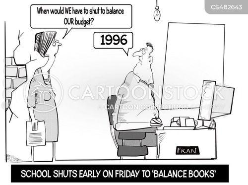 schools funding cartoon