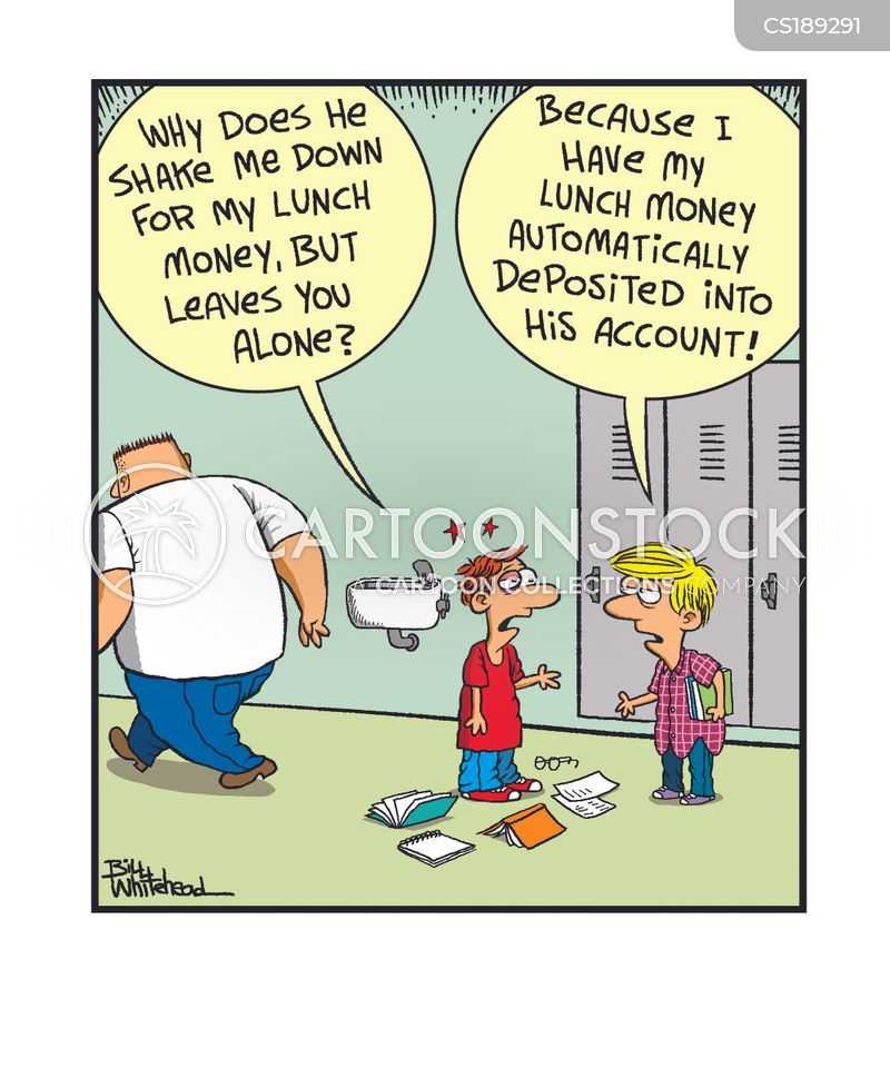 lunch money cartoon