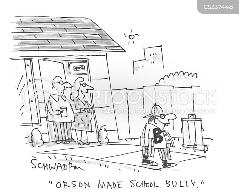 school bully cartoon