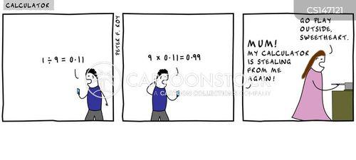 calculators cartoon