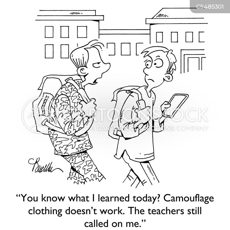 camouflage clothing cartoon