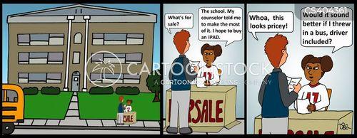 business minded cartoon