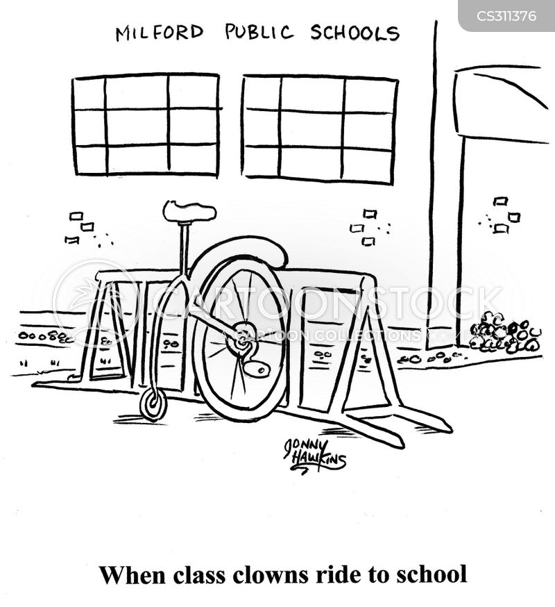 ways to go to school cartoon