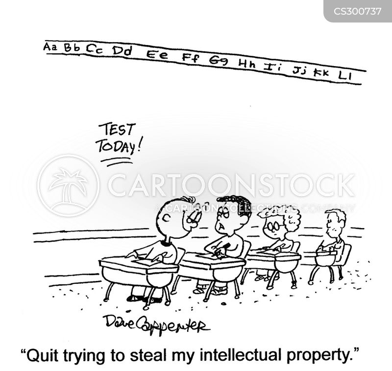 intellectual copyright cartoon
