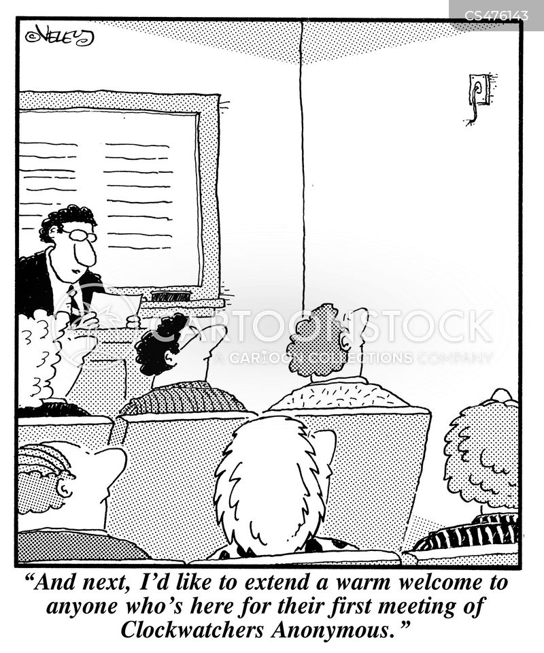 clock-watchers cartoon