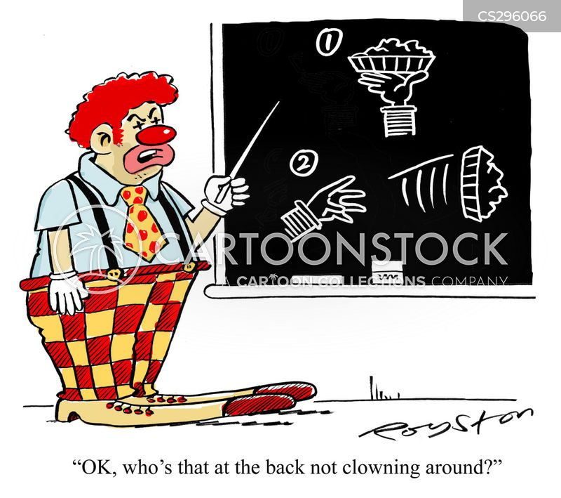 clowning around cartoon