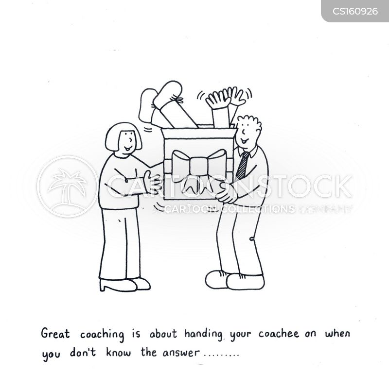 sports coaches cartoon