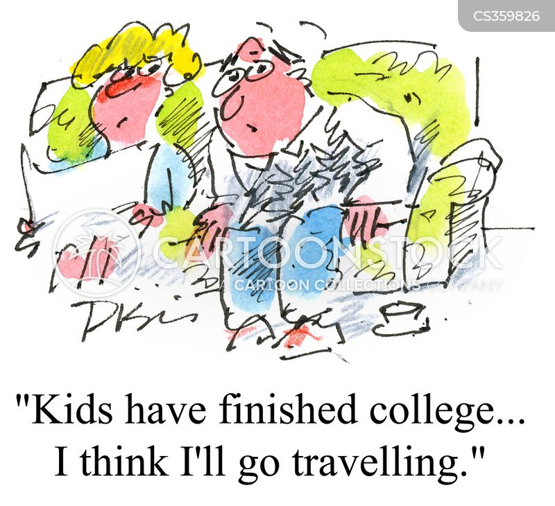 going travelling cartoon