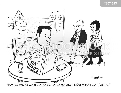 entrance exam cartoon