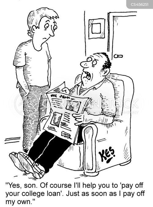 university loan cartoon