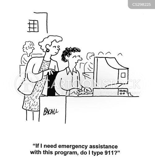 emergency assistance cartoon