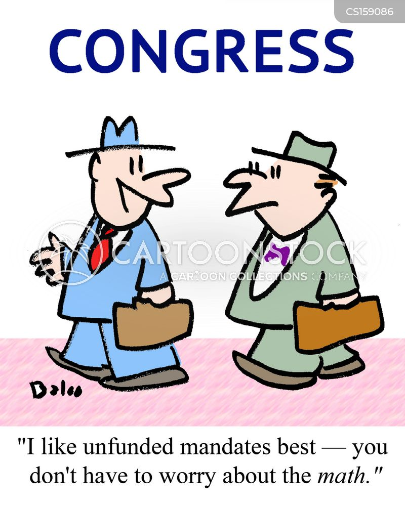 mandates cartoon