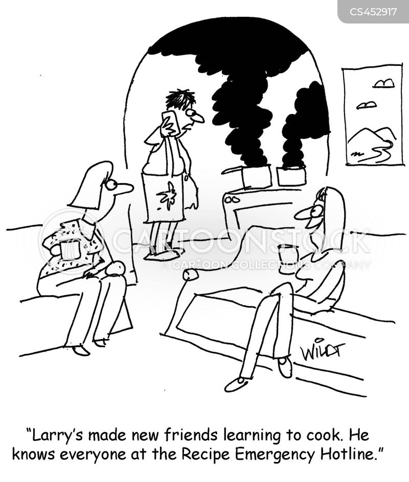 learning to cook cartoon