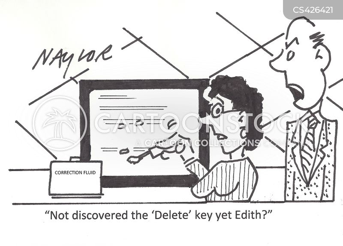 delete buttons cartoon