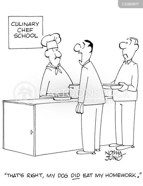 catering school cartoon