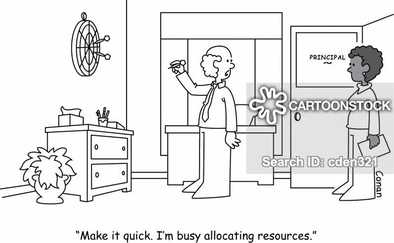 allocating resources cartoon